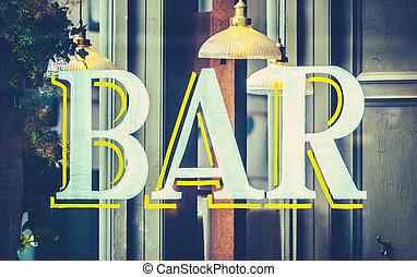 Urban Bar Sign