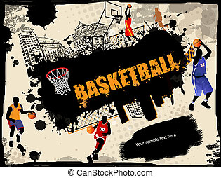 Urban basketball background