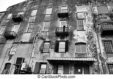 Urban blight - Decaying building in the city