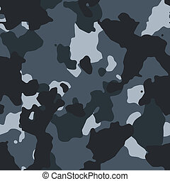 Urban blue vector seamless camo pattern
