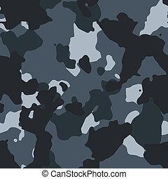 Urban blue vector seamless camo pattern
