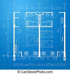 Blueprint. Architectural background
