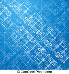 Blueprint. Architectural background