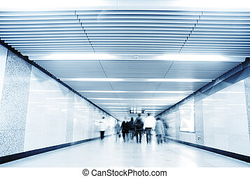 Urban Blues, fast life in the City with lot of Business People in underpass