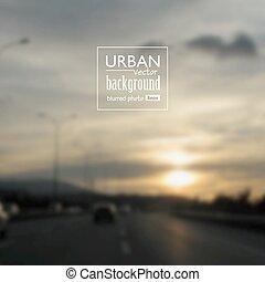 Urban blurred photo background