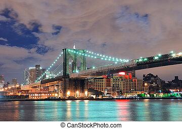 Urban bridge night scene