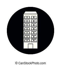 urban building cartoon