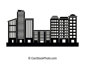 urban buildings cartoon
