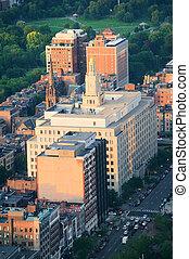 urban, byen, aerial udsigt