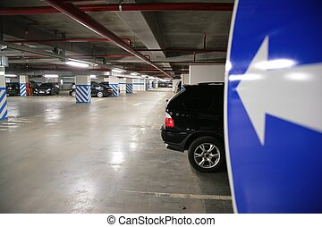urban car`s parking