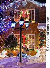 Urban Christmas - Urban christmas scene in suburbia.