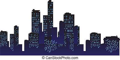 Urban City At Night Background