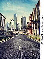 Urban City - Cityscape in retro style