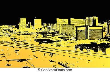Urban City Grunge Background