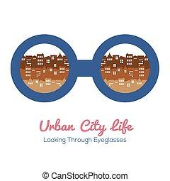 Urban City Life. - Urban City Life Vector Illustration.