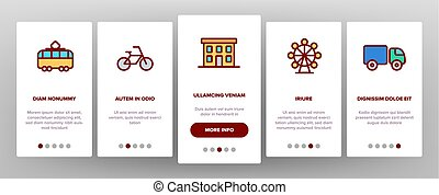 Urban, City Life Thin Line Icons Onboarding