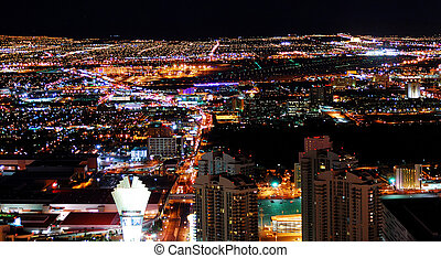 Urban City Night panorama