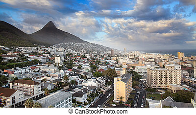 Urban City skyline, Cape Town, South Africa. - Cape Town is...