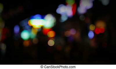 urban city with blurred lights
