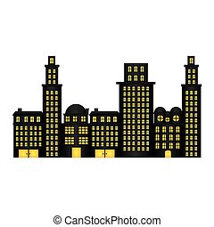 urban cityscape and residential apartments
