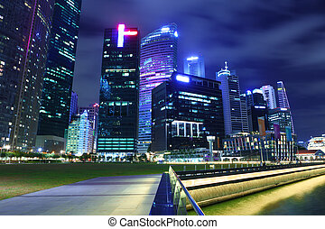 Urban cityscape in Singapore