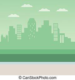 Urban cityscape scenery