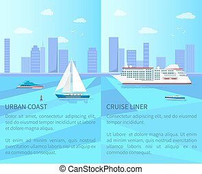 Urban Coast and Spacious Cruise Liner Posters