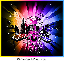 Colorful Discoteque Event Background