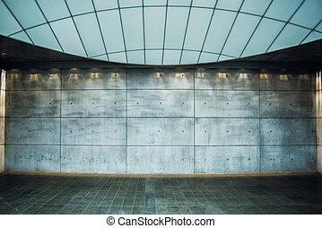 Urban Concrete Background, Modern Empty Interior Space as...