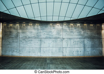 Urban Concrete Background, Modern Empty Interior Space as...