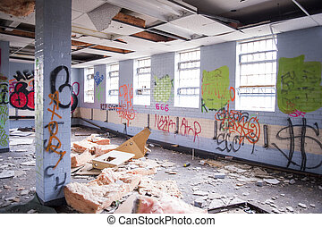 Urban Decay, Graffiti and Damaged - Totally Decayed with...