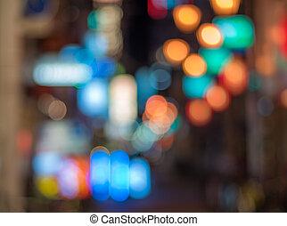 Urban defocused night scene