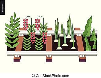 Urban farming and gardening on the rails