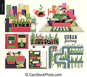 Urban farming and gardening set - Urban farming, gardening...