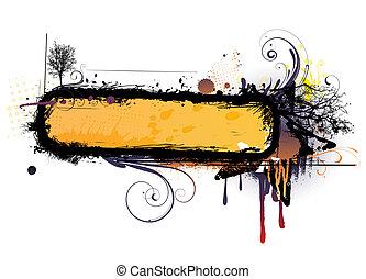 urban floral background - Vector illustration of urban...