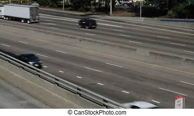 Urban Freeway Traffic - An urban freeway with moderate day...