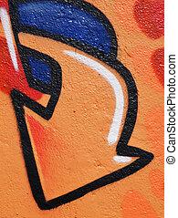 urban graffiti as background -