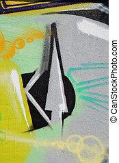 urban graffiti as background