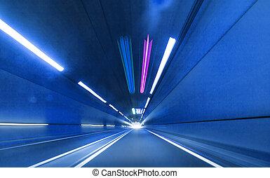 Urban highway road tunnel