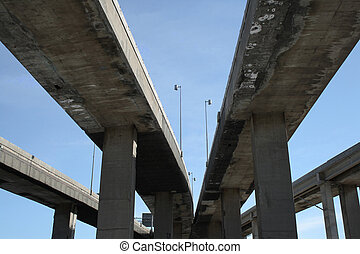 Urban highway viaducts