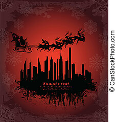 Urban holiday background