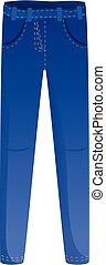 Urban jeans icon, cartoon style