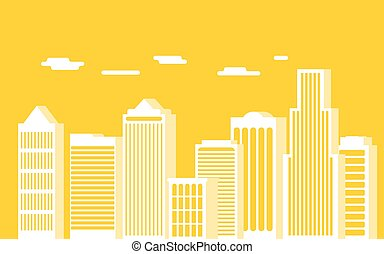 urban landscape and city life. Set of buildings. Panorama....