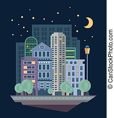 Urban Landscape in Flat Design