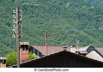Urban landscape of a small town