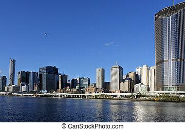 Urban landscape view of Brisbane city downtown skyline