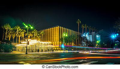 urban light los angeles long exposure at night