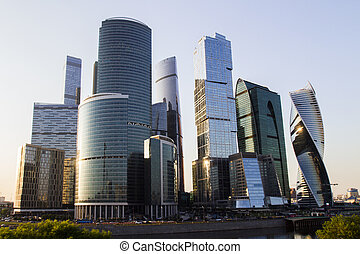 Urban Moscow city backdrop