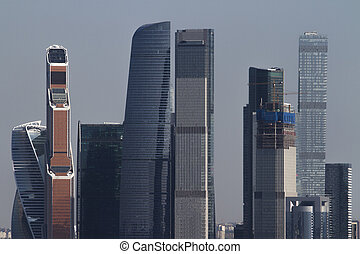 Urban Moscow city wallpaper