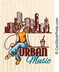 Urban music poster